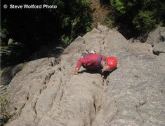 Rock Climbing Photo: The master, Jeff Thomas leading the FA of Knowwhat...