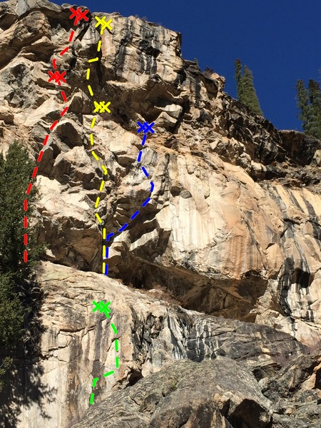Rock Climbing Photo: Lower Grotto Wall - Upper Right:  Red - Stage Frig...