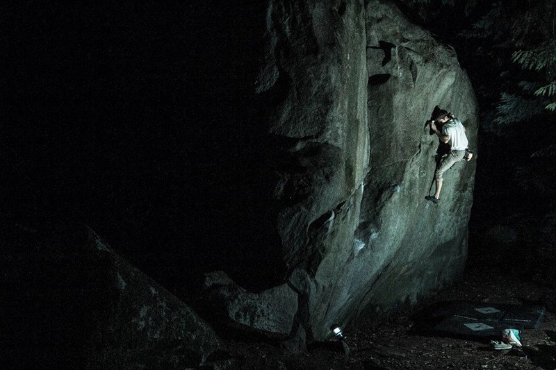 Rock Climbing Photo: Ryan's problem at midnight, photo by Chris Ful...