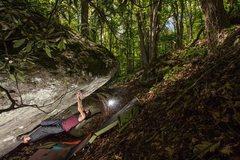 Rock Climbing Photo: Outlaw (V11FA) GHSP VA