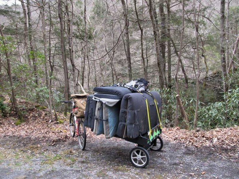 The Paddy Wagon I built for a sweet boulder strewn bike trail.
