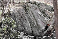 Rock Climbing Photo: Full Throttle (V11) Boone