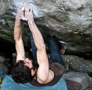 Rock Climbing Photo: Flagyl (V10) Boone