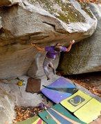 Rock Climbing Photo: Kamikaze (V10) Rumbling Bald NC
