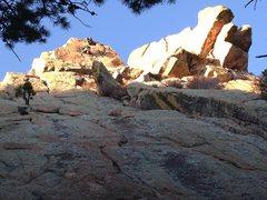 Rock Climbing Photo: Finishing the second pitch.