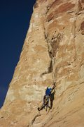 Rock Climbing Photo: Roy Suggett, cleaning on toprope and freeing much ...