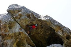 Rock Climbing Photo: Trying to figure out the roof (Great Roof - Castle...