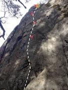 Rock Climbing Photo: Birds, Snakes & Airplanes Topo