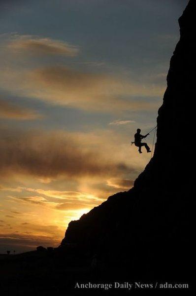 Rock Climbing Photo: Fly By Night 5.10a Seward Highway, AK