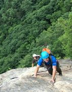 Rock Climbing Photo: Guiding Fun House/Upper Refuse Cathedral Ledge. Ne...