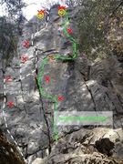 Rock Climbing Photo: Figure Four Topo