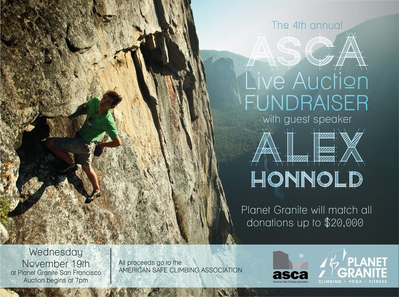 Planet Granite San Francisco ASCA fundraiser 11/19/14.
