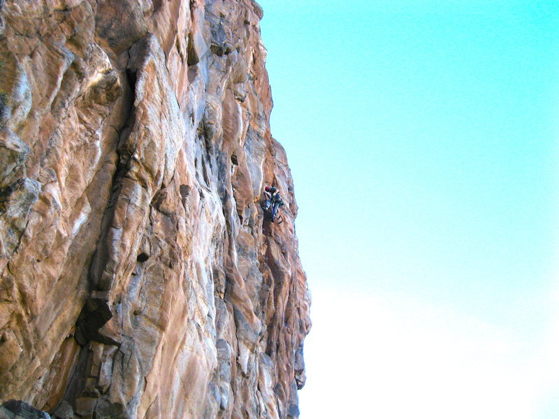 Rock Climbing Photo: In the foreground is Wicked World .11+ mixed  in t...
