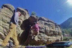 Rock Climbing Photo: Workin the arête!
