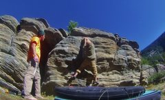 Rock Climbing Photo: Evan pullin the crux!