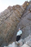 Rock Climbing Photo: Love being on the pedestal. I am standing in front...