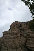 Rock Climbing Photo: Topping Tinker Toys.