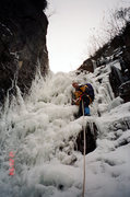 Rock Climbing Photo: Randy leading a Winter Accent of the Colden Trap D...