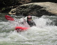 Rock Climbing Photo: Jonah slicing thru Blackberry Falls rapid  on the ...