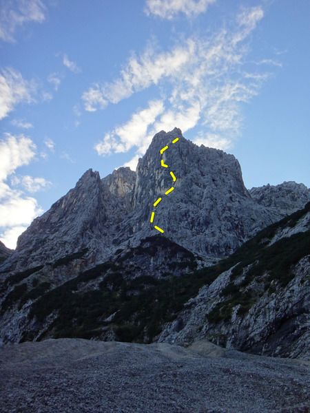 Rock Climbing Photo: Unterer Berggeisttum, directly in front of Oberrei...