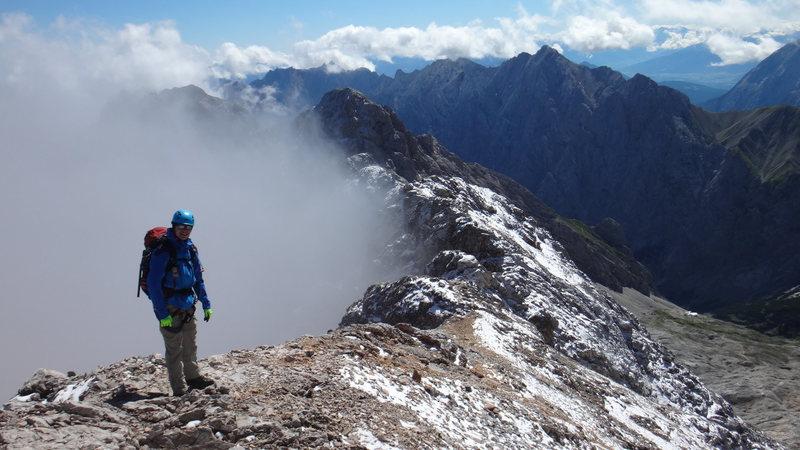 Rock Climbing Photo: On the Jubigrat between Zugspitze and Albspitze (B...
