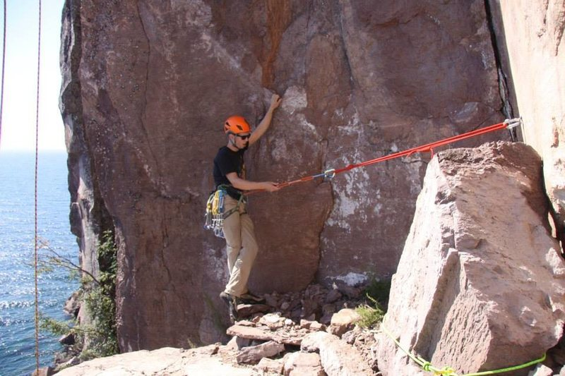 Rock Climbing Photo: Big belay ledge
