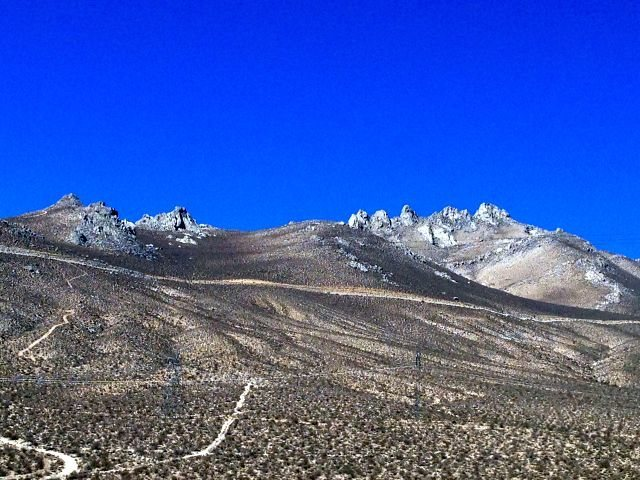 Heller Rocks from HWY 395, Indian Wells Canyon