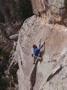 Rock Climbing Photo: Steve on the low angle dihedral of Grace and Power...