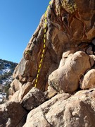 Rock Climbing Photo: P2 variation follows cracks at the left end of the...