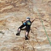 Rock Climbing Photo: Working the bottom moves on the awesome Quartz on ...