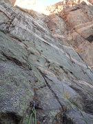 Rock Climbing Photo: Me on p1.