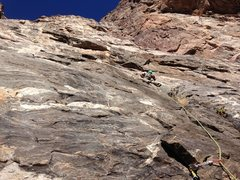 Rock Climbing Photo: Adrian leading another R on p4.