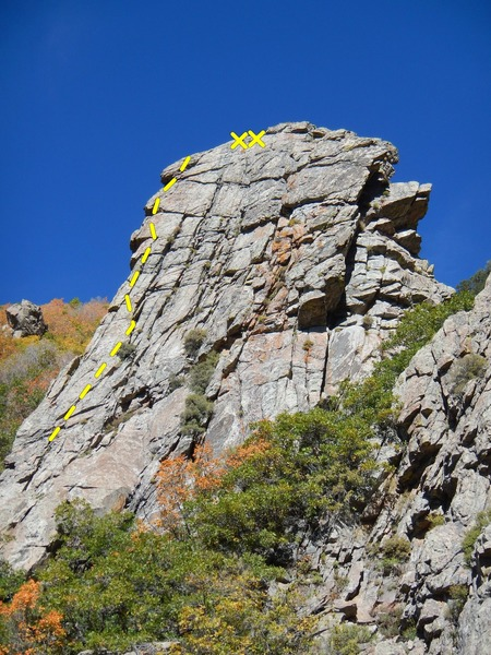 Rock Climbing Photo: The wall showing crepa carreggiata