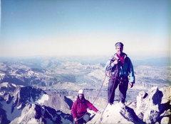 Rock Climbing Photo: Randy and Tom on the summit of the Grand Teton Sum...