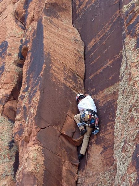Rock Climbing Photo: Light Duty in Indian Creek