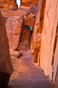Rock Climbing Photo: Heidi Stanke in the physical roof crux, Doing it f...