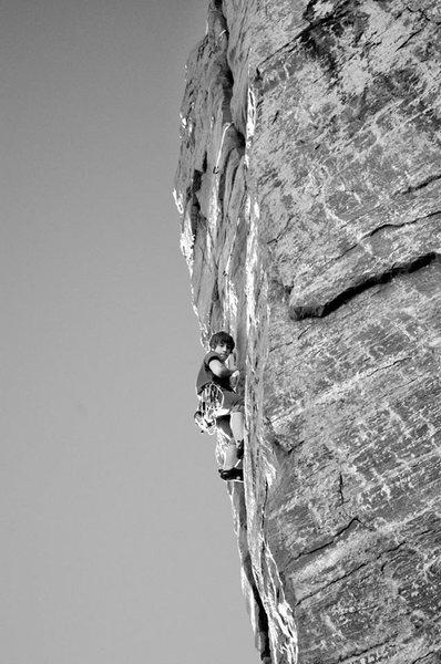 Rock Climbing Photo: Cleaning Brinton's Crack