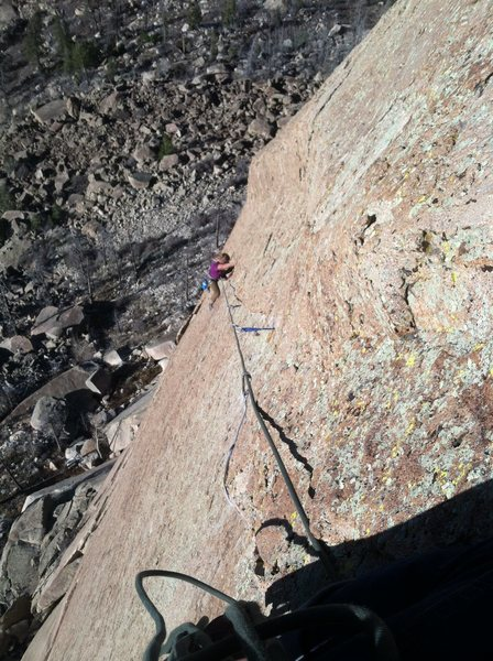 Some 5.10 hand crack on the Horn.  Pretty rad.