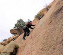 Rock Climbing Photo: Dara starting up.