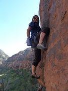Rock Climbing Photo: Alexis Lang floats her way into Rizla's Crack -5.1...