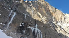Rock Climbing Photo: Longs East face ice- 10/29/14.