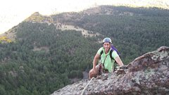 Rock Climbing Photo: Vince on First Flatiron- Oct 2014.