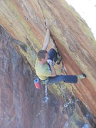 Rock Climbing Photo: Cody getting it done.