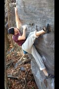 Rock Climbing Photo: Aaron crushing