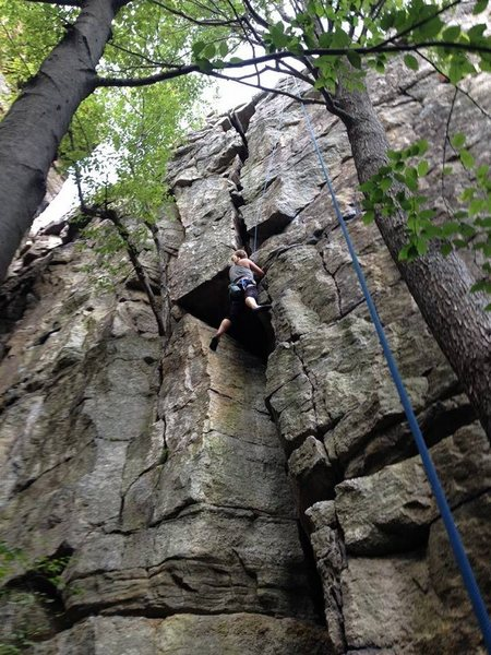 psycho crack right climb