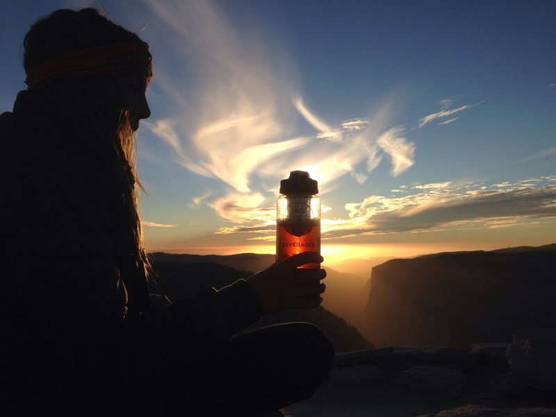 Summit beer on half dome