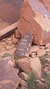 Rock Climbing Photo: The massive plaque