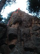 Rock Climbing Photo: Start on the left side on top of obvious boulder, ...