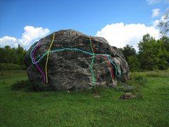 Rock Climbing Photo: purple line