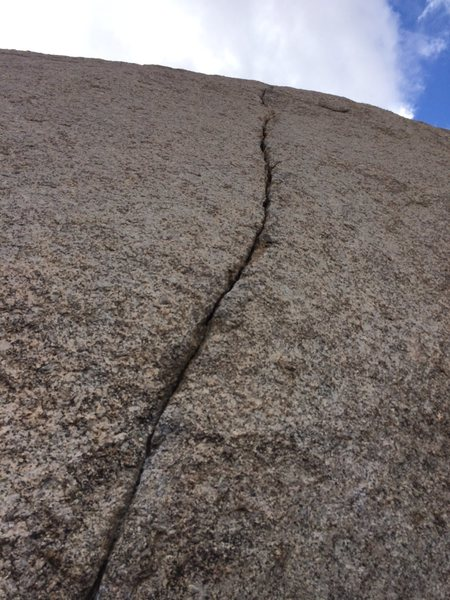 Rock Climbing Photo: Not very long, but a really fun finger crack.  Cer...